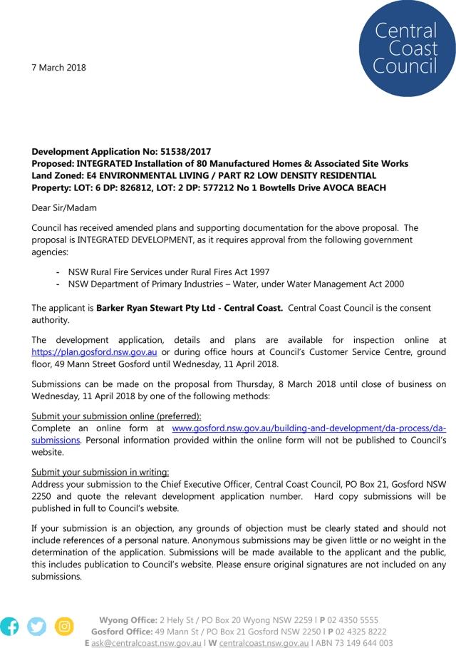 Development of Bowtells Caravan Park Site | Friends of Avoca